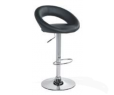 Tabouret SPACE en PU & chrome NOIR